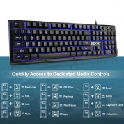 TeckNet X703 LED Illuminated Gaming Keyboard - геймърска клавиатура с LED подсветка (за PC) 5