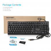 TeckNet X703 LED Illuminated Gaming Keyboard - геймърска клавиатура с LED подсветка (за PC) 4