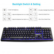 TeckNet X703 LED Illuminated Gaming Keyboard - геймърска клавиатура с LED подсветка (за PC) 2