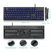 TeckNet X703 LED Illuminated Gaming Keyboard - геймърска клавиатура с LED подсветка (за PC) 7