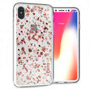 iPaint Glitter Flakes Case for iPhone XS, iPhone X (pink)