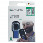 4smarts Loop-Guard Neck Strap - каишка за врата против изпускане на вашия смартфон (черен-сребрист) 4