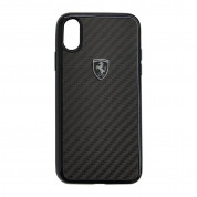 Ferrari Heritage Real Carbon Hard Case for iPhone XS, iPhone X (black)