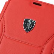 Ferrari Heritage 488 Genuine Leather Booktype Case - кожен калъф (естествена кожа), тип портфейл за iPhone XS, iPhone X (червен) 2