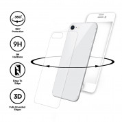 Eiger 3D 360 Screen Protector Back and Front Glass for iPhone iPhone 8, iPhone 7 (Clear/White) 2