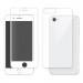 Eiger 3D 360 Screen Protector Back and Front Glass - калени стъклени защитни покрития за дисплея и задната част на iPhone 8, iPhone 7 (бял-прозрачен) 2