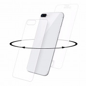 Eiger 3D 360 Screen Protector Back and Front Glass for iPhone 8 Plus, iPhone 7 Plus (Clear/White)