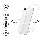 Eiger 3D 360 Screen Protector Back and Front Glass for iPhone 8 Plus, iPhone 7 Plus (Clear/White) 2