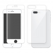 Eiger 3D 360 Screen Protector Back and Front Glass for iPhone 8 Plus, iPhone 7 Plus (Clear/White) 1
