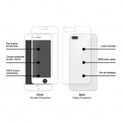 Eiger 3D 360 Screen Protector Back and Front Glass for iPhone 8 Plus, iPhone 7 Plus (Clear/White) 3
