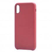 Devia Nature Case - кожен кейс за iPhone XS, iPhone X (червен)