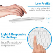 Macally 104 Key Full-Size USB Keyboard with Short-Cut Keys - USB клавиатура оптимизирана за MacBook (бял)  4