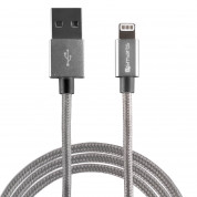 4smarts MFI RapidCord Lightning Data Cable 2m. - сертифициран lightning кабел (200 см.) за iPhone, iPad и iPod с Lightning вход (сив) 1