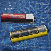 AquaJam AJ2 Waterproof IPX7 Speaker - водоустойчив безжичен спийкър с микрофон и вградена батерия за мобилни устройства (жълт) 5