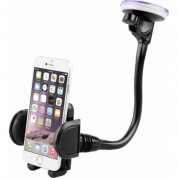 BeHello Car Holder on Windscreen with Longneck - 5.5 inches in Black