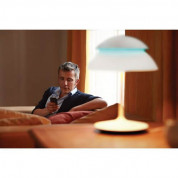 Philips Hue Beyond Dimmable LED Smart Table Lamp (White, Compatible with Amazon Alexa, Apple HomeKit, and Google Assistant)  3