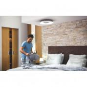Philips Still Hue Ceiling Lamp - комплект таванна лампа с бяла светлина и ключ за димиране за безжично управляемо осветление за iOS и Android устройства (сребрист) 3