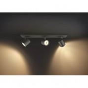 Philips Runner Hue Double Spot And Dimmer Switch - комплект двойна стенна лампа с бяла светлина и ключ за димиране за безжично управляемо осветление за iOS и Android устройства (черен) 2