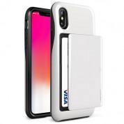 Verus Damda Glide Case - висок клас хибриден удароустойчив кейс с място за кр. карти за iPhone XS, iPhone X (бял)