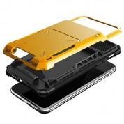 Verus Damda Folder Case - висок клас хибриден удароустойчив кейс с място за кр. карти за iPhone XS, iPhone X (жълт) 2