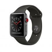 Apple Watch Series 3, 42mm Space Gray Aluminum Case with Gray Sport Band - умен часовник от Apple 1