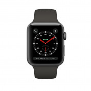 Apple Watch Series 3, 42mm Space Gray Aluminum Case with Gray Sport Band - умен часовник от Apple 2
