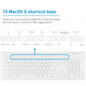 Macally Combo Keyboard & Mouse - комплект USB клавиатура и USB мишка за Mac и PC 2