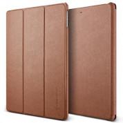 Verus Saffiano K1 - кожен калъф и поставка за iPad Pro 10.5 (кафяв)