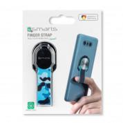 4smarts Loop-Guard Finger Strap - каишка за задържане за смартфони (син-кaмуфлаж)  7
