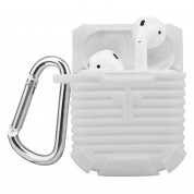 4smarts Silicone Case - силиконов калъф с карабинер за Apple Airpods (бял) 1