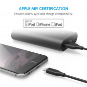 Anker Powerline Lightning cable - сертифициран Lightning кабел за iPhone, iPad и iPod с Lightning (0,9 м) (тъмносив) 3