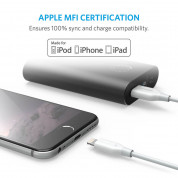 Anker Powerline Lightning cable - сертифициран Lightning кабел за iPhone, iPad и iPod с Lightning (0,9 м) (бял) 3