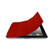 Apple Smart Cover Limited Edition - кожено покритие  за iPad 4, iPad 3, iPad 2 (червен)