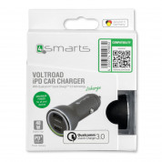 4smarts Fast Car Charger VoltRoad iPD with Quick Charge 3.0 and Power Delivery - зарядно за кола с USB и USB-C изход (черен) 5