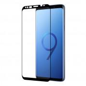 Eiger 3D Glass Case Friendly Curved Tempered Glass - калено стъклено защитно покритие с извити ръбове за целия дисплея на Samsung Galaxy S9 Plus (черен-прозрачен) 2