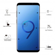 Eiger 3D Glass Case Friendly Curved Tempered Glass for Samsung Galaxy S9 Plus (black-clear) 6