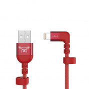 Adam Elements PeAk II USB/Lightning Cable for DJI Remote Controller| 30cm | red | ACBADL30BLRD 2