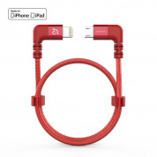 Adam Elements PeAk II Lightning Cable for DJI Remote Controller | 30cm | red | ACBADLMBL30BDRD