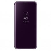 Samsung Clear View Stand Cover EF-ZG960CVEGWW - оригинален кейс с поставка, през който виждате информация от дисплея за Samsung Galaxy S9 (виолетов)