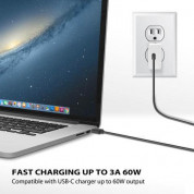 iLuv USB-C to USB-A Sync And Charge Cable - кабел за MacBook и устройства с USB-C порт (1 м) (черен) 2