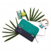 STM Grace Sleeve - дизайнерски неопренов калъф за MacBook Air 11, MacBook 12 и лаптопи до 11 инча (син-зелен) 3
