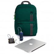 STM Banks Backpack - елегантна и стилна раница за MacBook Pro 15 и лаптопи до 15 инча (зелен) 4