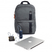 STM Banks Backpack - елегантна и стилна раница за MacBook Pro 15 и лаптопи до 15 инча (сив) 4
