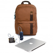 STM Banks Backpack - елегантна и стилна раница за MacBook Pro 15 и лаптопи до 15 инча (кафяв) 4