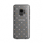 Incipio Classic Case Design Series - дизайнерски удароустойчив TPU кейс за Samsung Galaxy S9 (прозрачен-розов) 1