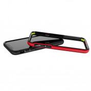 Patchworks Level Silhouette - удароустойчив хибриден бъмпер за iPhone XS, iPhone X (черен-червен)  9
