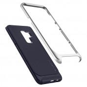 Spigen Neo Hybrid Case - хибриден кейс с висока степен на защита за Samsung Galaxy S9 Plus (син-сребрист)  5