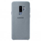 Samsung Alcantara Cover EF-XG965AMEGWW - оригинален кейс от алкантара за Samsung Galaxy S9 Plus (светлосин)