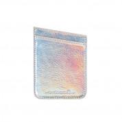 CaseMate Pockets - кожено калъфче, тип джоб за гърба на вашия телефон, побиращо до две кредитни/дебитни карти (хамелеон)