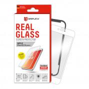 Displex Real Glass 10H Protector 3D Full Cover - калено стъклено защитно покритие за дисплея на iPhone 8, iPhone 7, iPhone 6S (бял-прозрачен)